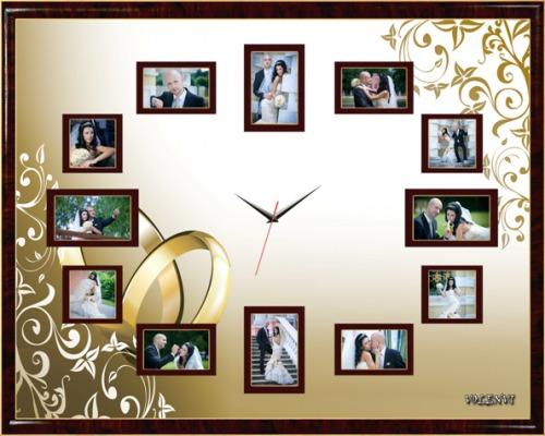 Часы из фото на стену своими руками 368