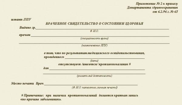 Справка в бассейн стоимость Москва Перово